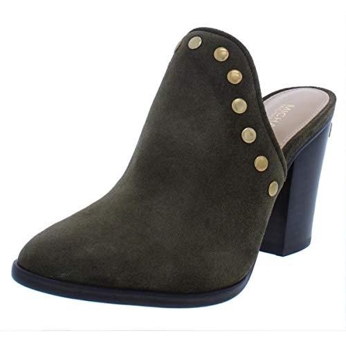 MICHAEL Michael Kors Louise Block‑Heel Mules Shoes Olive (6.5)