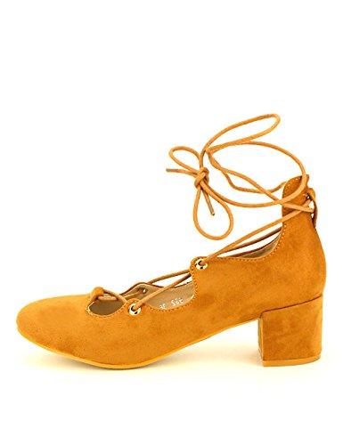 Ballerine Caramel Chaussures Cendriyon Peau Cuir Femme CLEMENTICA zdwaqR