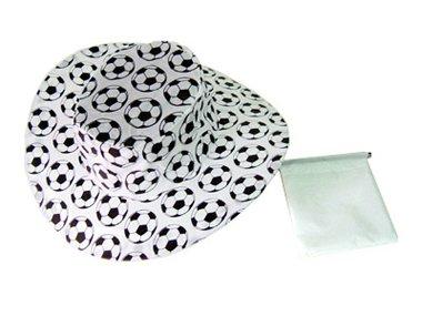 Kaltner Pr/äsente Geschenkidee Sonnenhut Hut M/ütze Kappe aus Nylon faltbar im Fu/ßball Design ideal f/ür Fasching Outdoor Sonnenschutz Regenschutz Set 3 St/ück