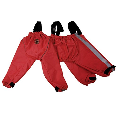 FouFou Dog 62556 Bodyguard Protective All-Weather Dog Pants, Large, Red
