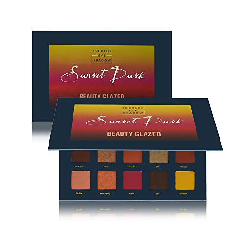 Beauty Glazed Sunset Dusk Eyeshadow Palette 15 Colors Long Lasting Eye Shadow Powder Make Up Waterproof Eye Shadow Palette Cosmetics