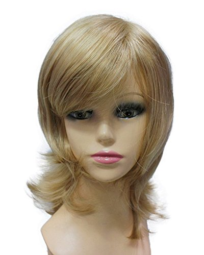 Capless Europe Hairstyle Multi-Color Short Layered Natural Straight Side Bangs fashion Synthetic Full Wigs for Sexy Ladies
