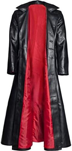 Black Steampunk Gothic Vampire Hunter Matrix Long Trench Coat