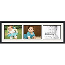 ArtToFrames Double-Multimat-882-61/89-FRBW26079 Collage Photo Frame Mat, 3-11x14, Satin Black