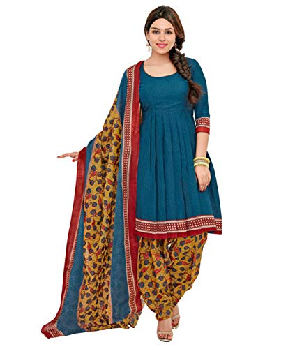 Miraan Unstitched Cotton Dress Material & Churidar Suit for Women