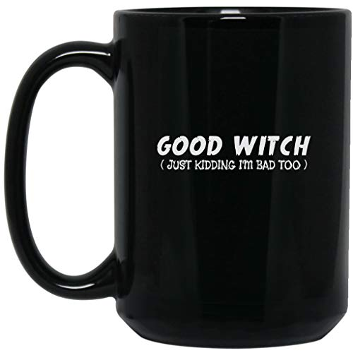 Good Witch Bad Witch Best Friend Halloween Party Duo Couple Funny Gifts Black Mug -