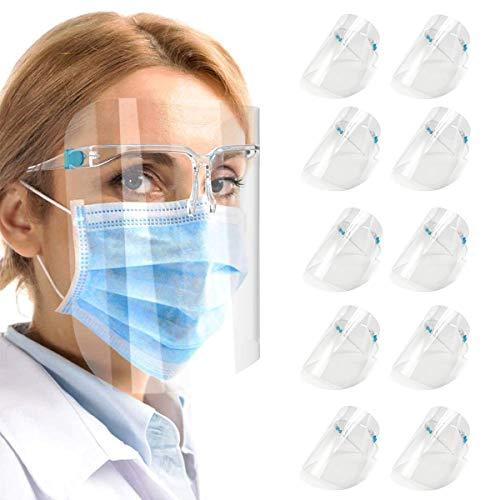 10 pcs Reusable Glasses Style Visor Transparent