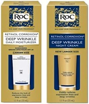 Roc Retinol Correxion Deep Wrinkle Night Cream, and Daily Moisturizer Spf 30 1.1 Fluid Ounces Each Box (Combo Pack)
