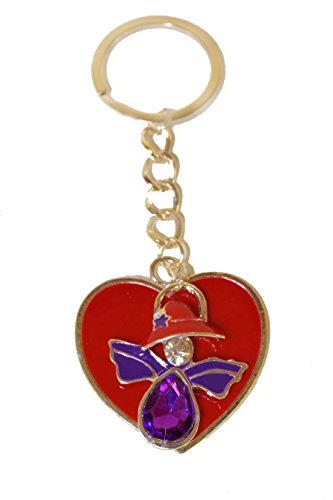 Key Chain / Red Heart & Red Hat Angel / Red Hat (Red Hat Society Charms)