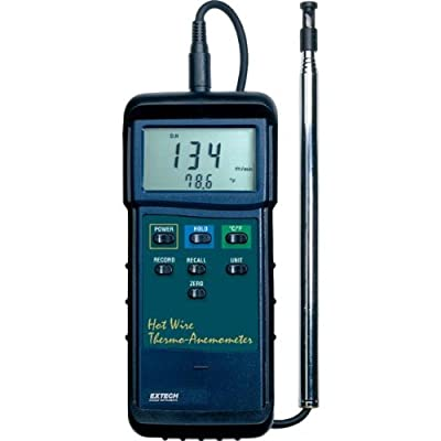 Extech Instruments 407123-NIST Heavy Duty Hot Wire Thermo-Anemometer with NIST