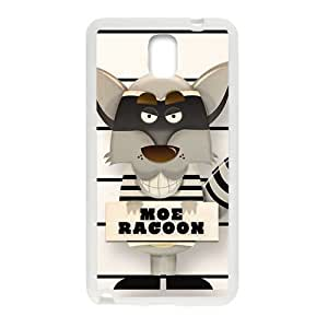Personalized Clear Phone Case For Samsung Galaxy Note 3,cute lovely moe racoon