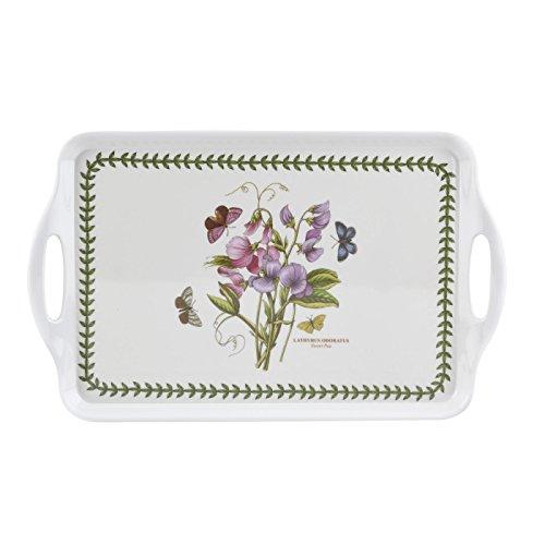 Botanic Garden Sweet Pea Handled Tray, Porcelain, Multi-Colour, 52 x 38 x 4.8 cm ()