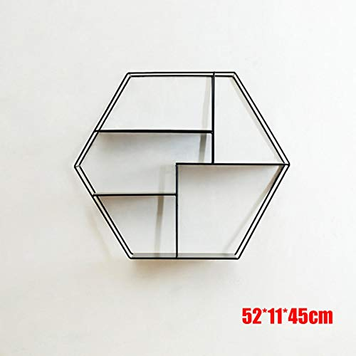 Hexagonal Metal Shelf Bracket Wall Mounted Cabinet for sale  Delivered anywhere in Canada