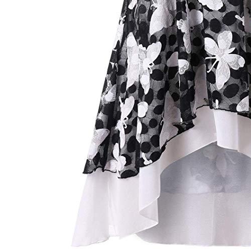 Et Debardeur Schwarz Asymmetric Elgante Col Fleurs Haut Manches Ourlet Camisoles Tshirt Rond Femme Mode Chic Tops sans pissure Costume Dentelle Jeune Mode Imprimer r5Bwxr8E