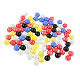 Baoblaze 16mm Glass Marbles, Pack of 90, Kids Marble Ball Run Game Toy, Chinese Checkers Marble Solitaire Beads Home Collections