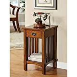 Legacy Decor Mission Style Telephone Stand/End