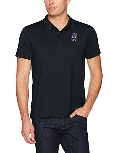 NCAA Northwestern Wildcats Men's Ots Sueded Short sleeve Polo Shirt, Small, Jet Black