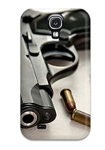For Galaxy S4 Premium Tpu Case Cover Gun Protective Case