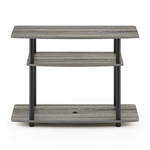 - Furinno 13192GYW/BK Turn-N-Tube No Tools 3-Tier TV Stand, French Oak Grey/Black