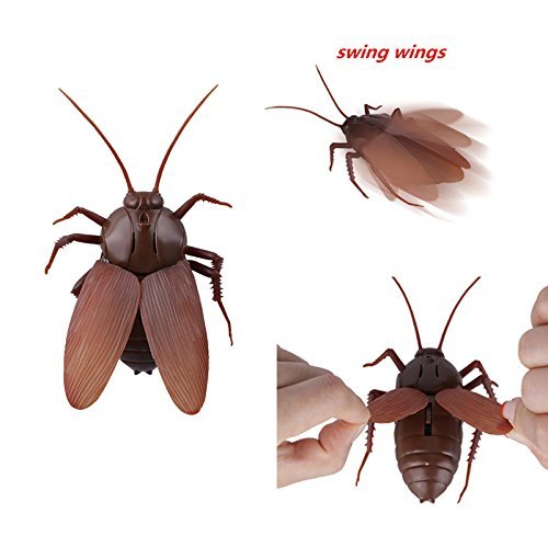 Infrared Remote Control Cockroach Toy Novelty Fake Giant Roaches Look Real Prank Toys Insects Joke Trick Bugs for Kids Pet Toy by Unknown (Image #4)