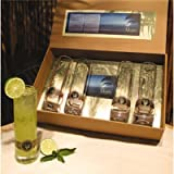 Cork Pops 90000 Mojito Gift Set,4 glass set/gift box w/recipe book