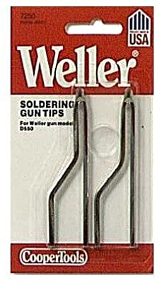 7250W Tip - Weller Soldering Tips - Replacement for D550 Soldering Guns (Pack of 2 Tips)