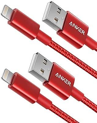 Anker - Cable Lightning de Nailon de Doble Banda (2 Unidades, Certificado Apple MFi para Cargadores de iPhone, iPhone X, 8/8 Plus, 7/7 Plus, 6/6 Plus, ...