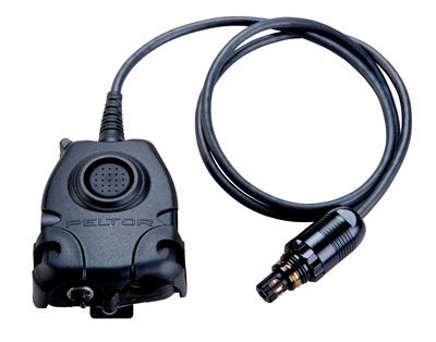 Peltor Push To Talk Adapter with 6 Pin MIL-C-55116 Connector for Nexus Radios,AN/PRC-148 &