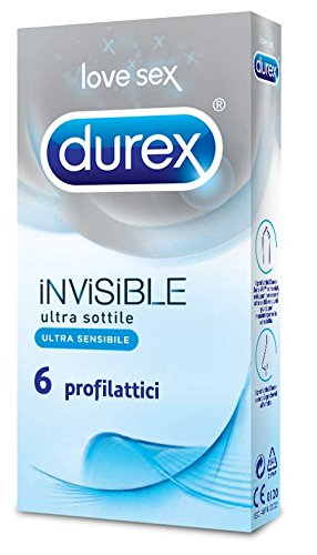 31 opinioni per Durex Invisible Preservativi, 6 Pezzi