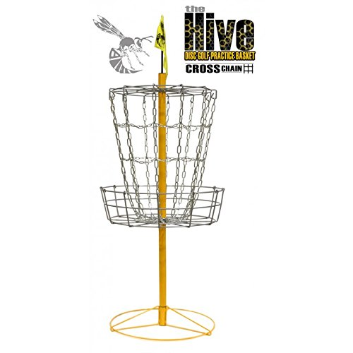 Yellow Jacket Hive Cross Chain 14 Chain Portable Disc Golf Basket Target by Yellow Jacket