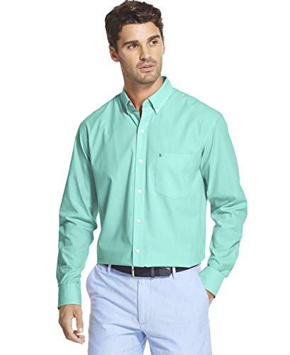 - IZOD Men's Slim Fit Button Down Long Sleeve Stretch Performance Solid Shirt, Florida Keys, Large
