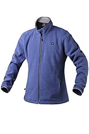 Pau1Hami1ton PJ-06 Women's Workwear Outdoor Thermal Mountain Full-Zip Active Fleece Heated Jacket Use Your Own 5v/2a(Power Bank) (M, Blue)