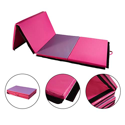 """Wonlink 4′ x 10′ x 2"""" Durable Foldable Gymnastic Mat for Various Exercise Activities"""