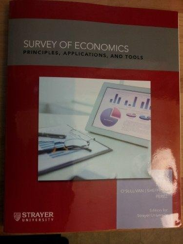 Survey of Econmics: Principles Applications & Tools Textbook Only ebook