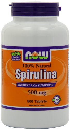 Now Foods Spiruline 500mg, comprimés, 500-comte