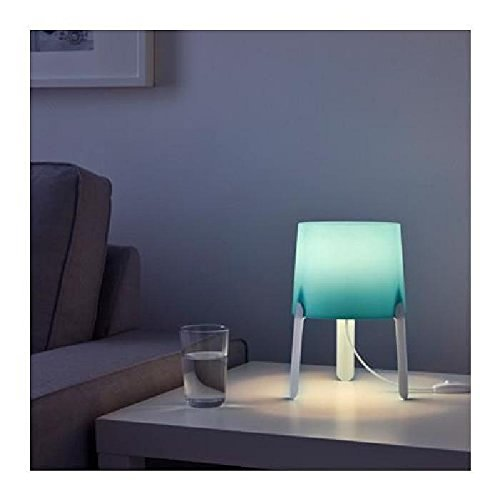 2 Lámparas de mesa Ikea Tvars, color Turquesa, con Bombillas LED incluidas: Amazon.es: Iluminación