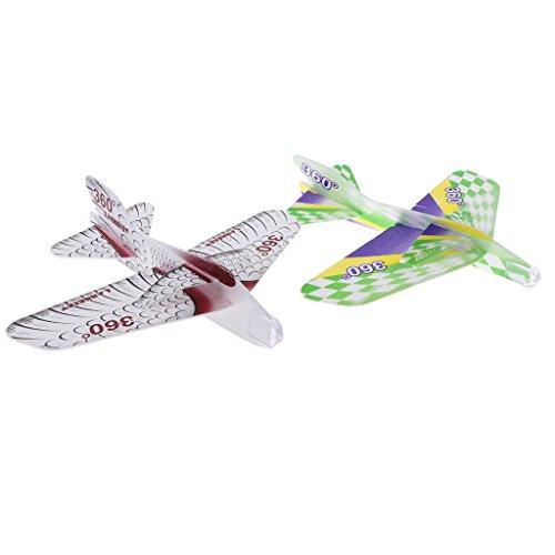 Kesoto 子供 屋外おもちゃ EVAフォーム 手投げ飛行機モデル 遊び場おもちゃ 持ち運び便利 全2個