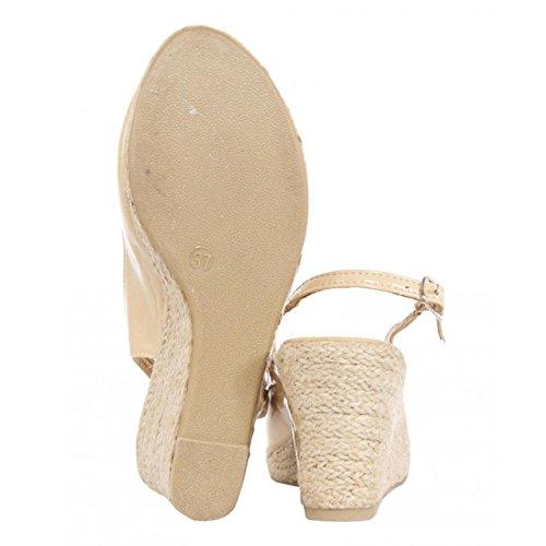Zapatos de cuña de Mujer URBAN B023380-B7200 NUDE