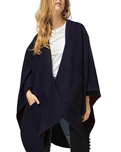 Pashmina Cashmere Blanket Infinity Scarf - Women Winter Reversible Oversized Fleece Blanket Poncho Cape Shawl ()