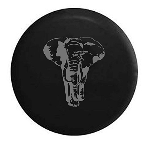 Pike Stealth - African Elephant RV Spare Tire Cover OEM Vinyl Black 33 in