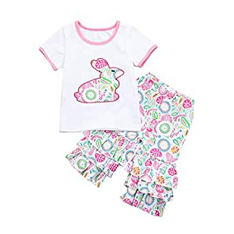 510aab0fac3b Amazon.com  2Piece Toddler Infant Baby Girl Outfits Set