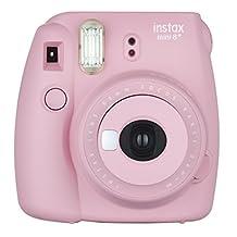 Fujifilm Instax Mini 8+ (Strawberry) Instant Film Camera + Self Shot Mirror for Selfie Use (Japan Import)