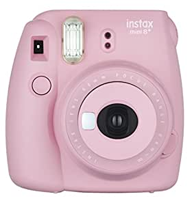 Fujifilm Instax Mini 8+ (Strawberry) Instant Film Camera + Self Shot Mirror for Selfie Use - International Version (No Warranty)