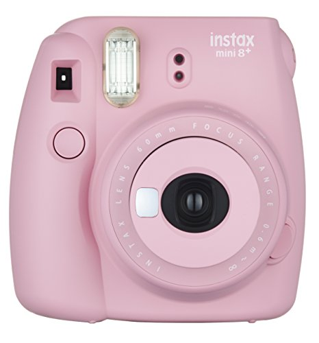 Fujifilm Instax Mini 8+ (Strawberry) Instant Film Camera + Self Shot Mirror for Selfie Use – International Version (No Warranty)