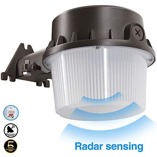 (Radar Sense, LED Yard Light for Area Lighting LED Outdoor Barn Light, (250-350W Equivalent), 5000K Daylight, 4200lm Floodlight, Wet Location, Radar Sensor Included, 50K 1Pack)