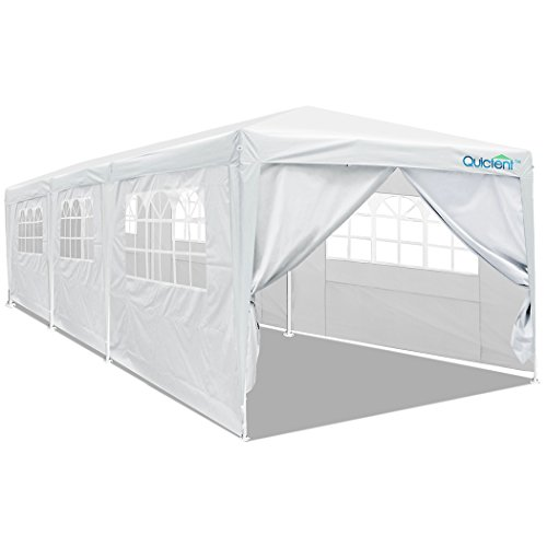 Quictent 10' x 30' Party Tent Gazebo Wedding Canopy BBQ Shelter Pavilion With Removable Sidewalls & Elegant Church (10'x30')