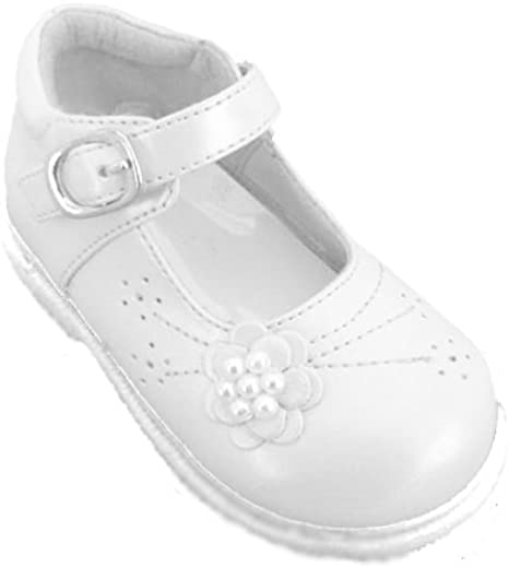 Baby Girls White Formal Dress Shoes