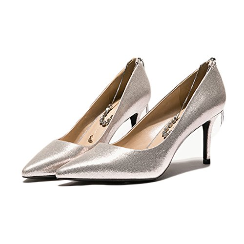 Sposa Fashion Scarpe High da Donna Court EU Red Donna Scarpe 4 da Partito da Strass 7cm Heels 5 UK Lavoro Gold 37 Nightclub Sexy nXCx75x6