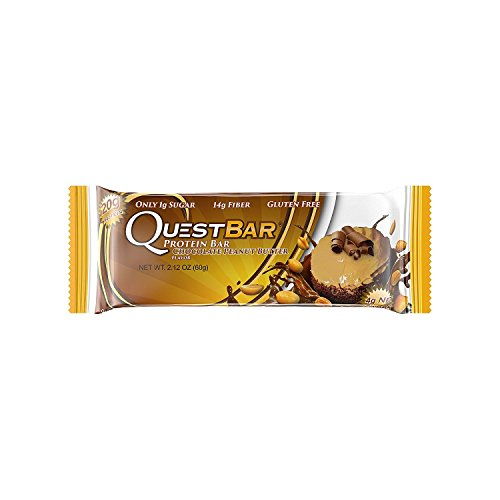 Quest Nutrition NKfggA Protein Bar, Chocolate Peanut Butter (Pack of 2) by Quest Nutrition