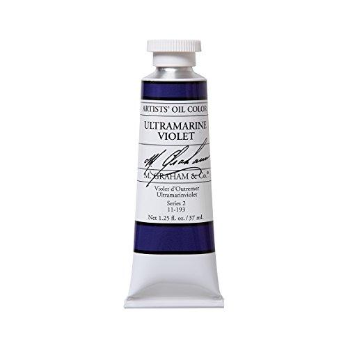 M. Graham Artist Oil Paint Ultramarine Violet 1.25oz/37ml Tube by M. Graham & Co.